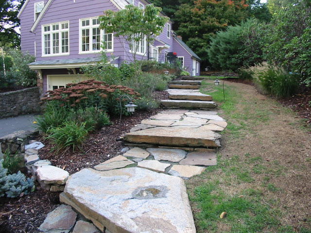 Rustic Stone Steps and walk