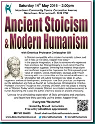 Ancient Stoicism & Modern Humanism 14 May 2016