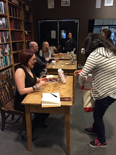 Getting my books signed!