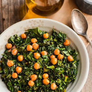Sautéed Kale with Roasted Chickpeas.