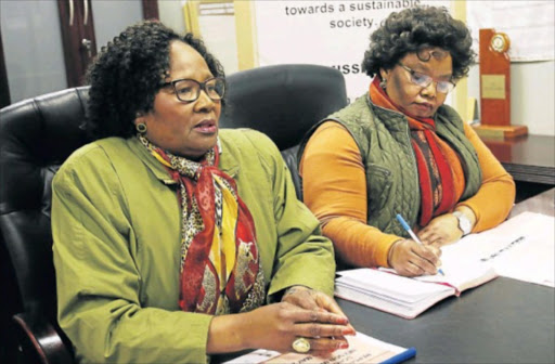 TIGHTENING SYSTEMS: Social development and special programmes MEC Nancy Sihlwayi, left, and acting head of department Ntombi Baart have confirmed they are investigating NPOs that defraud the department of millions of rands. Picture: MICHAEL PINYANA