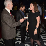 OIC - ENTSIMAGES.COM - Jeremy Corbyn  and Rebecca Kane Burton - GM of The O2  at the  I Am The Greatest - Muhammad Ali exhibition at The O2 London 3rd  March 2016 Photo Mobis Photos/OIC 0203 174 1069