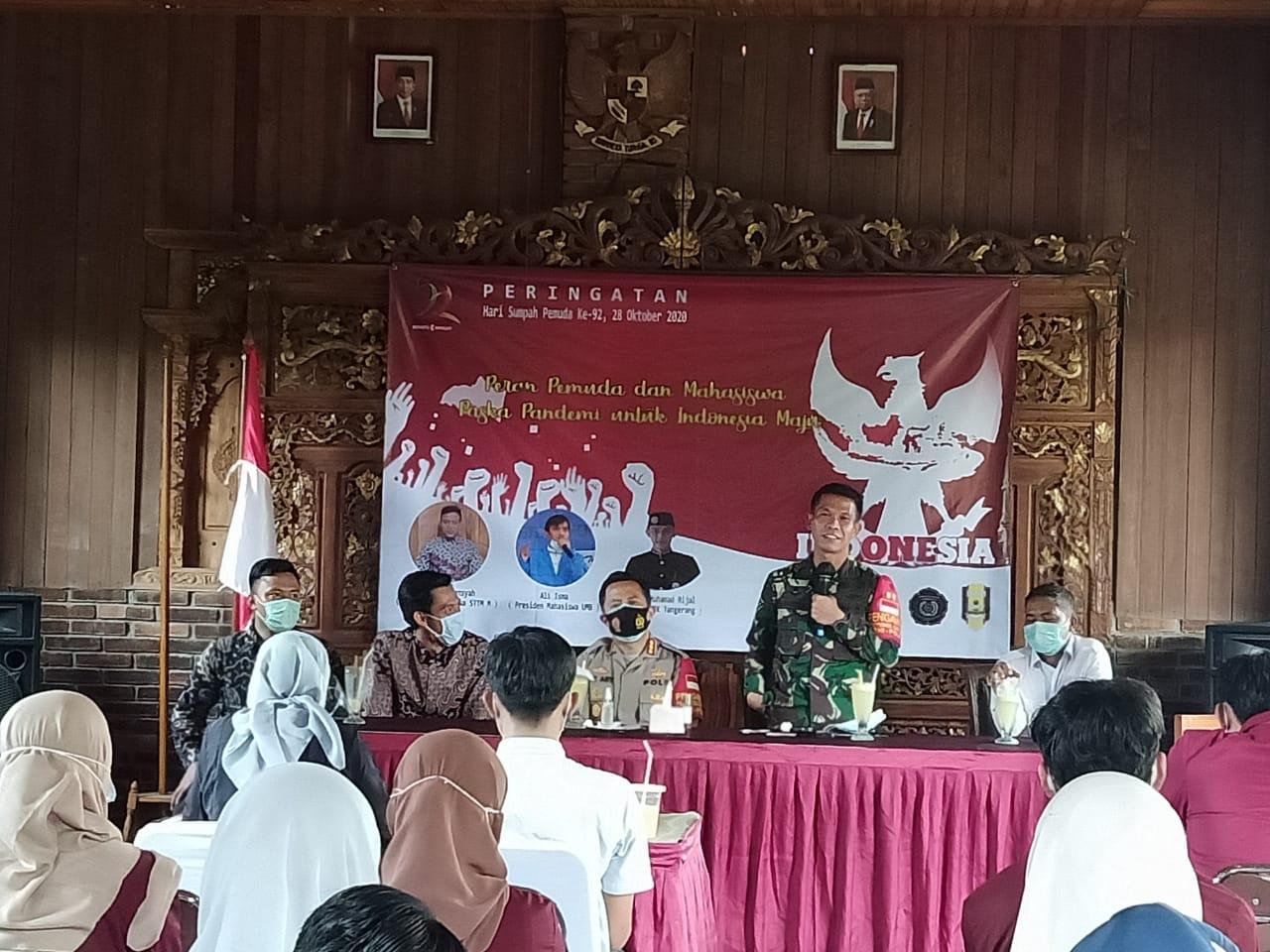 Dandim 0510/Trs bersama 3 Pilar Kabupaten Tangerang Ajak Mahasiswa Perangi Covid 19