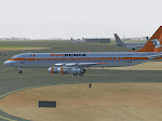 Aero Mexico DC-8 classic at SKBO taxis to active.