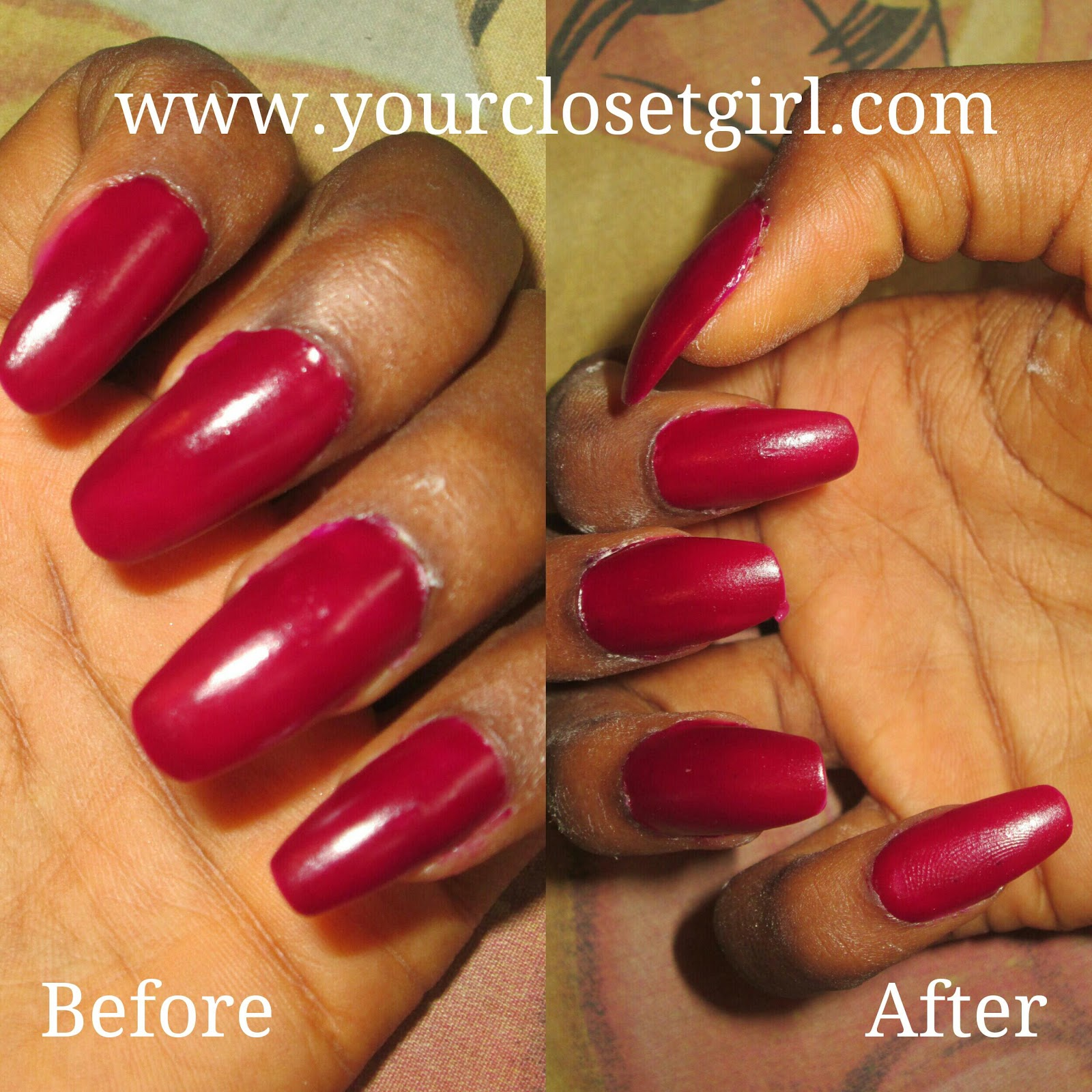DIY How To Make Your Glossy Nail Polish Matte