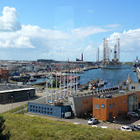 the large harbor of IJmuiden in Velsen, Noord Holland, Netherlands