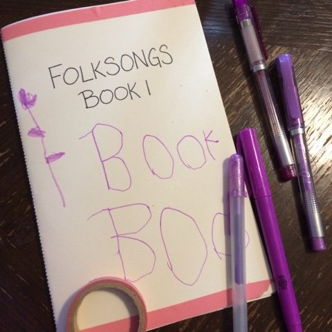 A tutorial for making a DIY booklet to use as a folksong songbook, a homemade phonics reader, or a host of other homeschool projects.