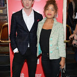 WWW.ENTSIMAGES.COM -   Luke Newberry and Antonia Thomas  arriving  at     Great Britain - press night at Theatre Royal Haymarket, London September 26th 2014West End Opening at Theatre Royal Haymarket for Richard Bean's GREAT BRITAIN -  Play about an ambitious tabloid editor in production described as anarchic satire about the press, the police and the political establishment.                                                    Photo Mobis Photos/OIC 0203 174 1069