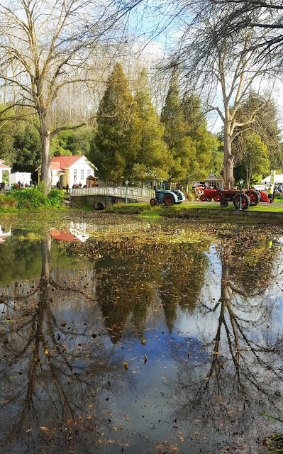 Autumnal reflections in the Agricultural Heritage Museum (NZ) pond