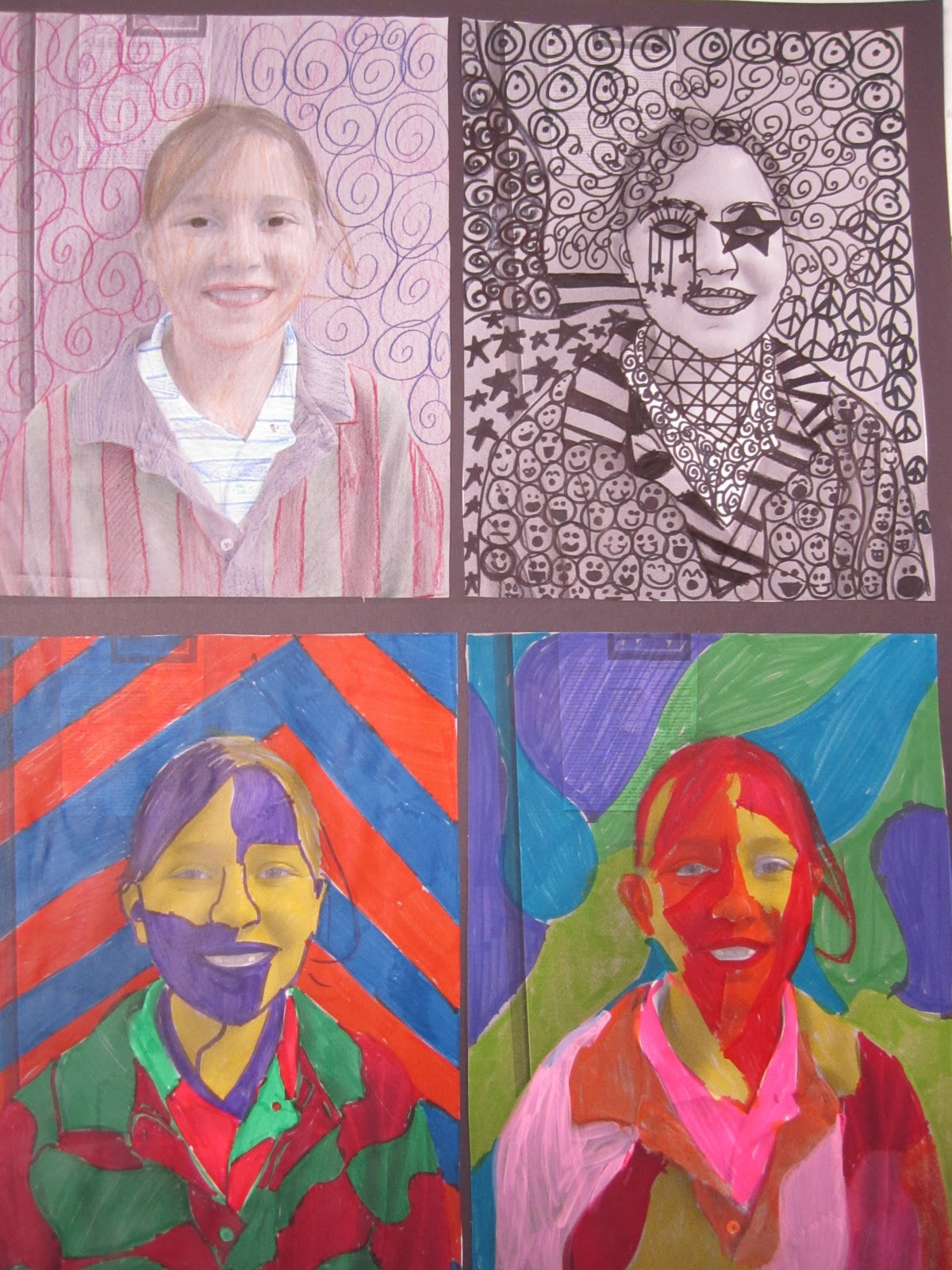 Think Create Art Elements Of Art Faces 6th Grade