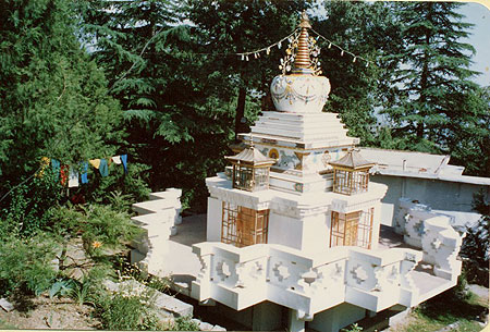 Lama Yeshe's stupa at Tushita Meditation Centre, Dharamsala, India.