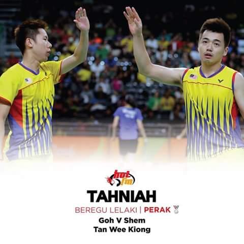 Perak untuk Bergu lelaki badminton olimpik Rio 2016