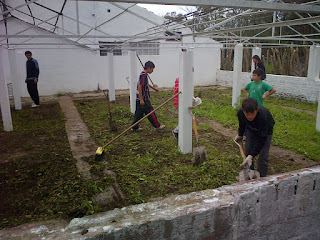 Taller de Huerta y restauración de Plaza en Villa Elvira