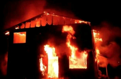 Breaking news:Magistrate court set on fire by angry youths - Unique