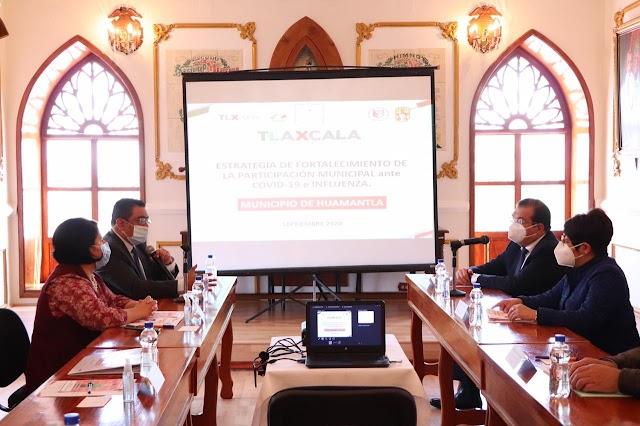 Se suma Huamantla a la Estrategia de Fortalecimiento de la Participación Municipal ante COVID-19 e Influenza.
