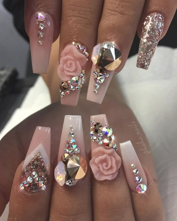 Different 3d nails art
