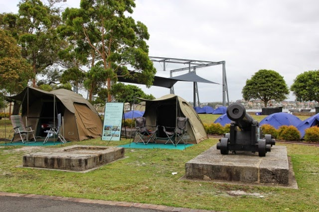 Camping in Sydney - try Cockatoo Island