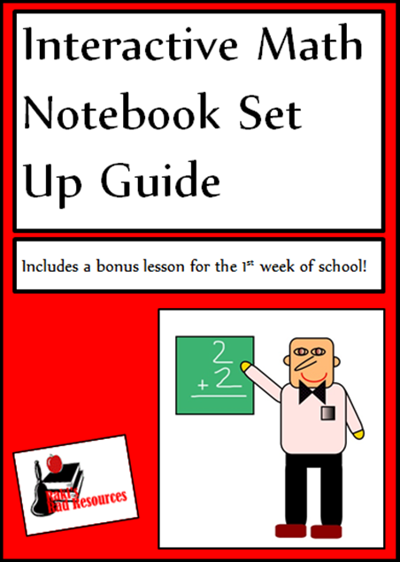 Interactive math notebook set up guide with a bonus lesson to help students understand the importance of learning math. Free download from Raki's Rad Resources.