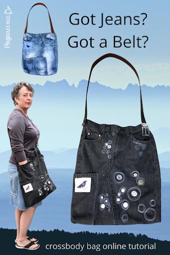 upcycled jean bag by Paganoonoo