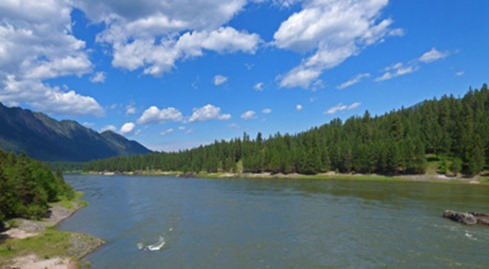 Clark Fork River along Montana Highway 200