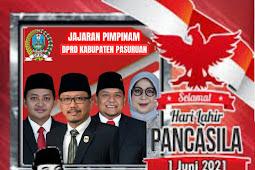 Jajaran Pimpinan DPRD Kabupaten Pasuruan Mengucapkan Selamat Hari Lahir Pancasila 1 Juni