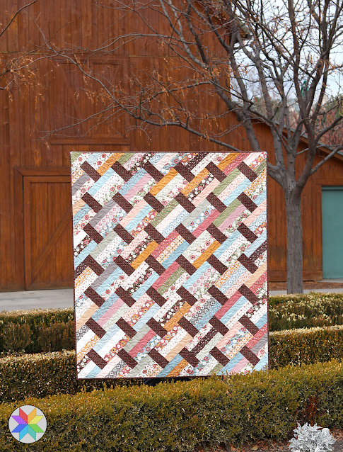 Fast Track quilt pattern from A Bright Corner - a precut friendly pattern in four sizes - fast and easy to make - uses jelly rolls, layer cakes, fat quarters or yardage