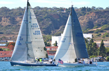 J/125s sailing Hot Rum San Diego