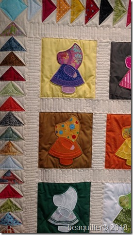 sunbonnet Sue Accuquilt quilt long arm quilting