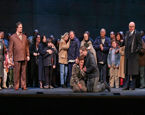IN PERFORMANCE: The cast of Opera Carolina's production of Ludwig van Beethoven's FIDELIO, October 2015 [Photo by Jon Silla, © by Opera Carolina]