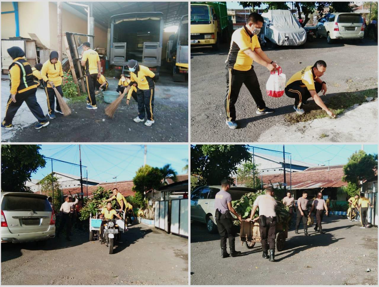 Cegah Korona, Bersih Bersih Asrama Polisi