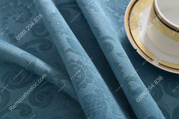 Rèm cửa cao cấp hà nội một màu xanh diềm 8