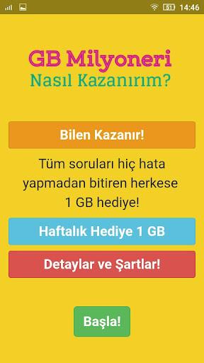 1 GB Kazan - Bedava u0130nternet Paketi 1.0.0 screenshots 2