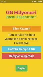 1 GB Kazan - Bedava İnternet Paketi Ekran Görüntüsü