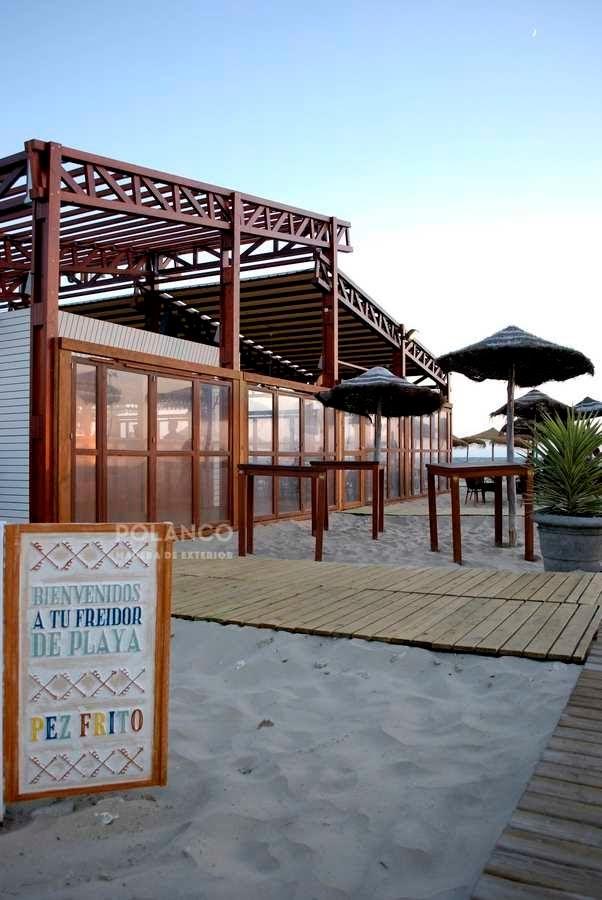Pasarela madera restaurante madera chiringuito - Casas de madera en cadiz ...