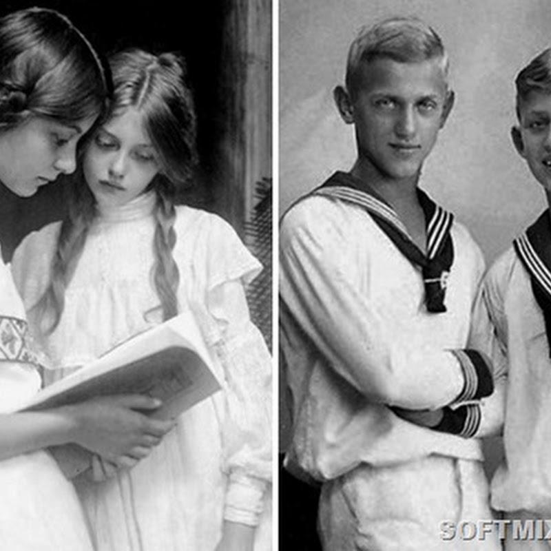 Подростки разных стран 100 лет назад