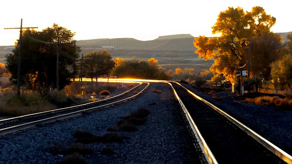 Railroad tracks in Green River