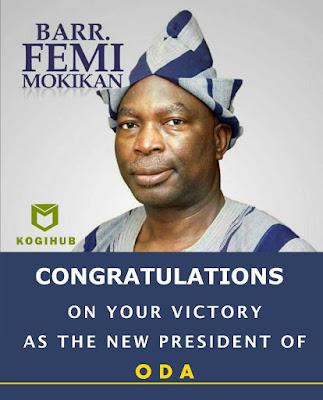 Olu Majek congratulates Barr. Femi Mokikan.
