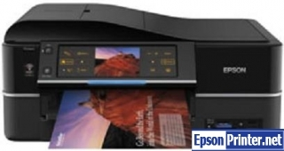 How to reset flashing lights for Epson TX830FWD printer