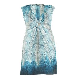 Roberto Cavalli Snake Pattern Dress
