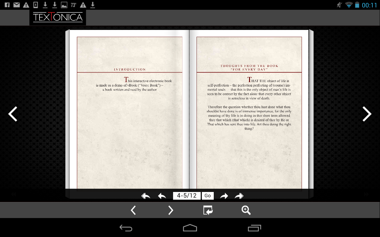 Leo Tolstoy. A Demo of vBOOK- screenshot
