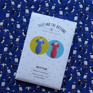 Puffin fabric by Alice Draws The Line