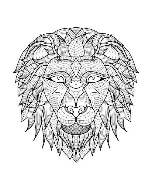 Adult Lion Head  Coloring Pages Printable And Coloring Book To Print For  Free Find More Coloring Pages Online For Kids And Adults Of Adult Lion  Head