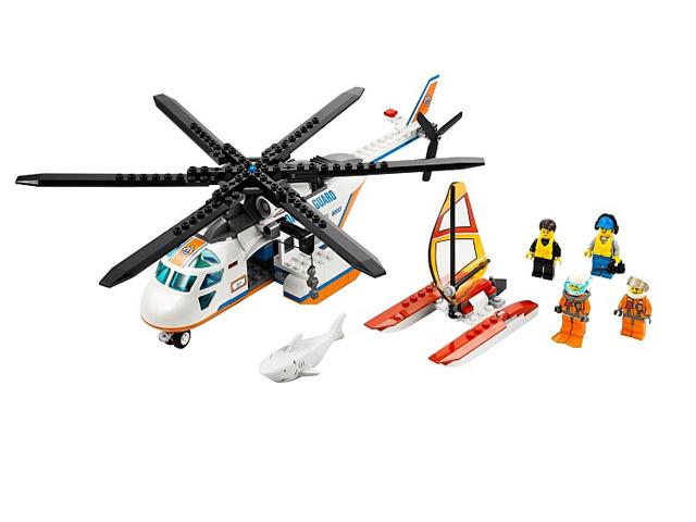 60013 レゴ シティ レスキューヘリコプターとカタマラン