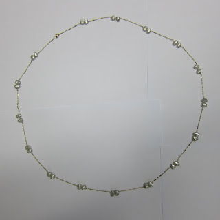 14 K Gold & Seed Pearl Necklace (Long)