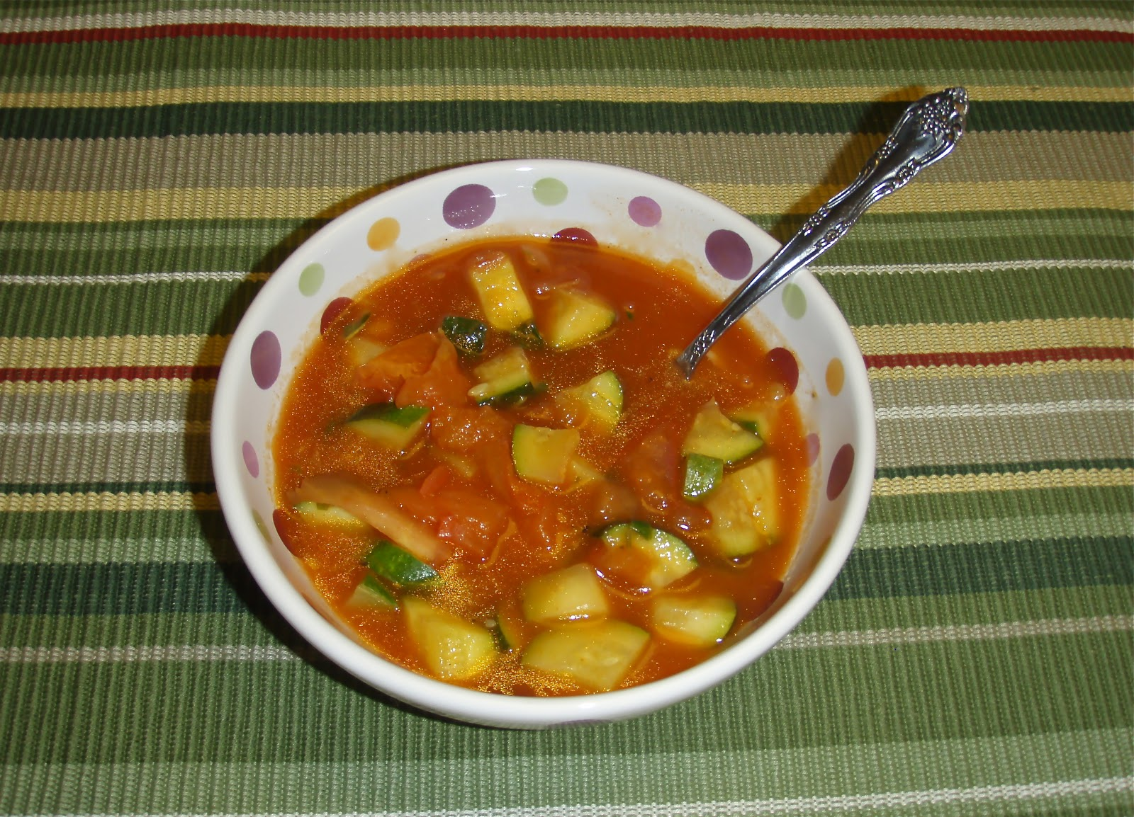 Points In My Life: Low-Point Tomato Zucchini Soup