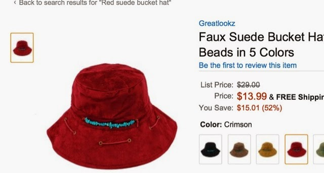 8fc2907d511 Finally at Amazon I found a sort of look-alike faux suede hat. I sent it to  author of Le Road Trip