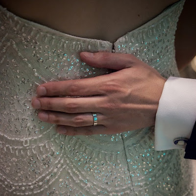 Jen - Sparkling scalloped lace over Champagne microfibre satin