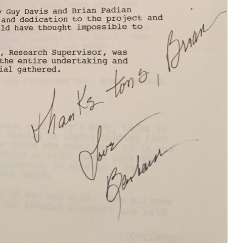 Dedication in research paper