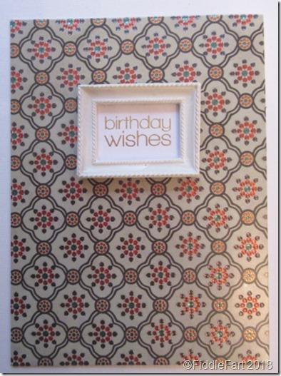 Birthday Card with mini frame
