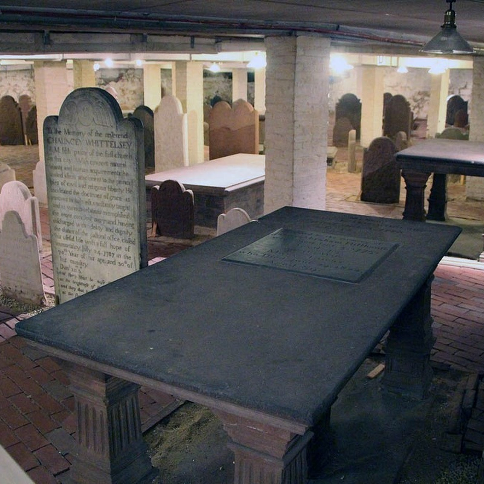 The Basement Cemetery of The New Haven Green Church